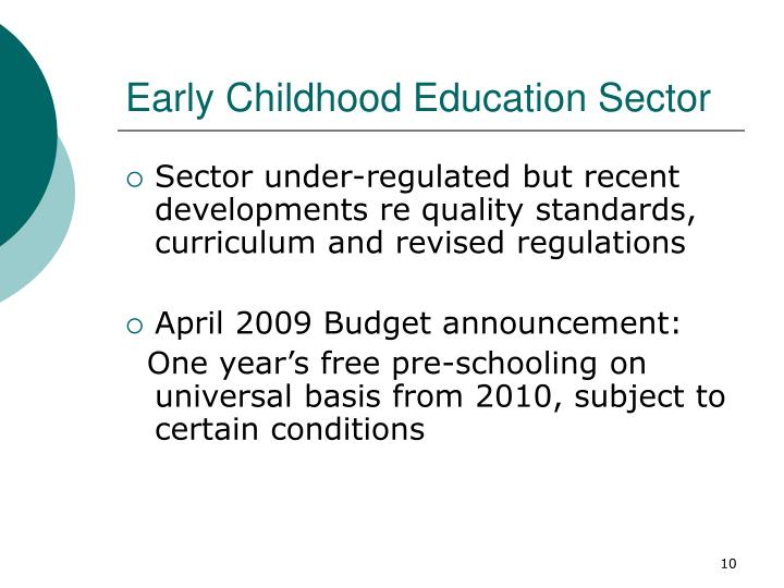 Early Childhood Education Sector