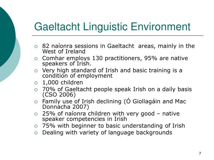 Gaeltacht Linguistic Environment