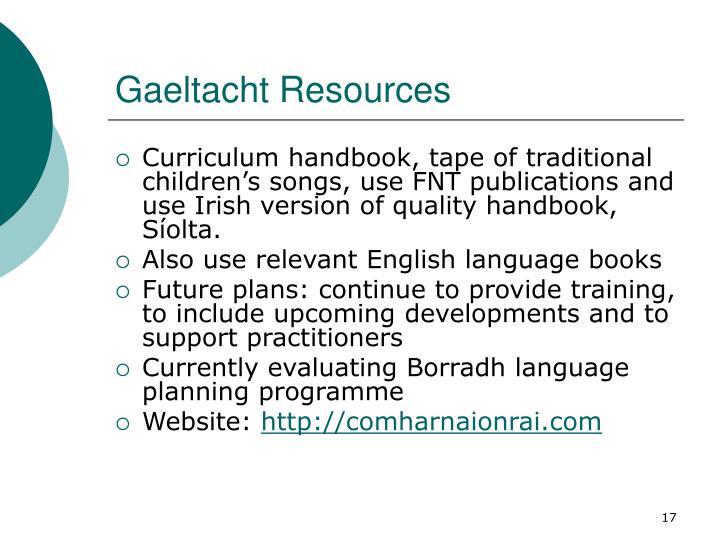 Gaeltacht Resources