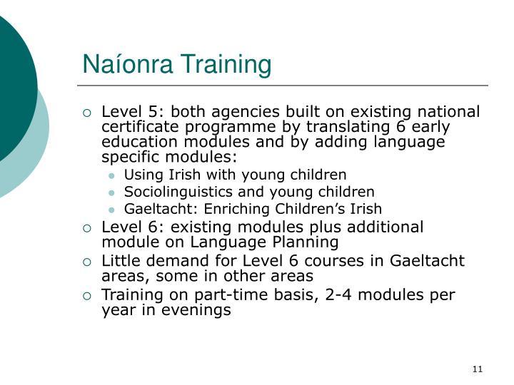 Naíonra Training
