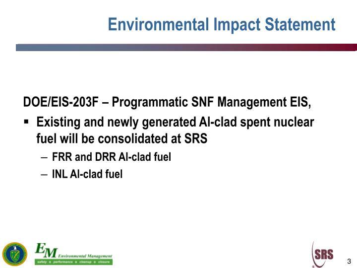 Environmental Impact Statement