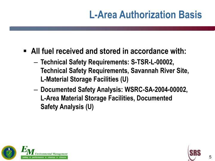 L-Area Authorization Basis