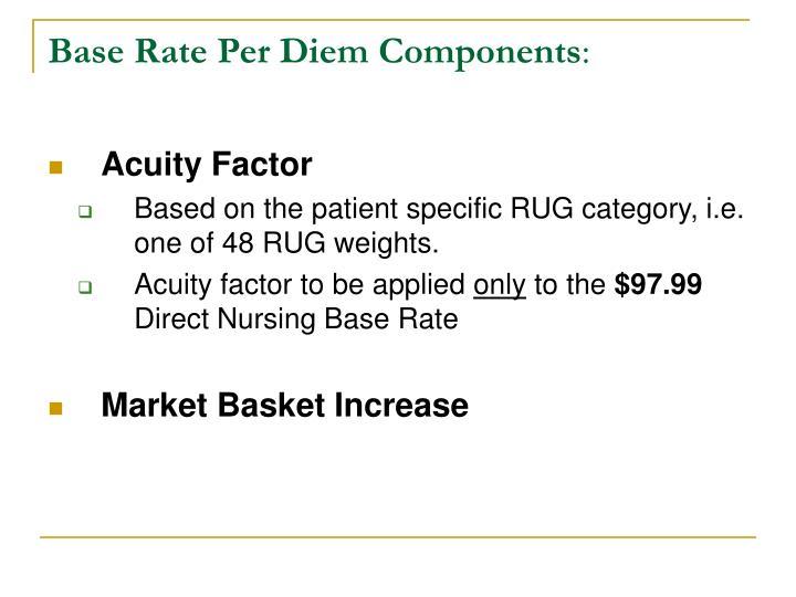Base Rate Per Diem Components