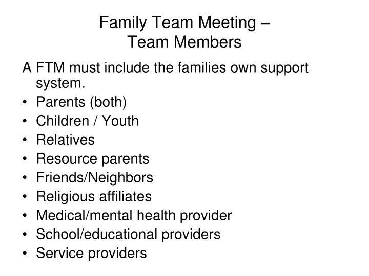 Family Team Meeting –