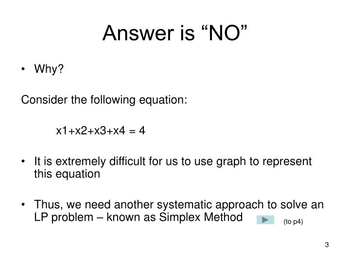 """Answer is """"NO"""""""