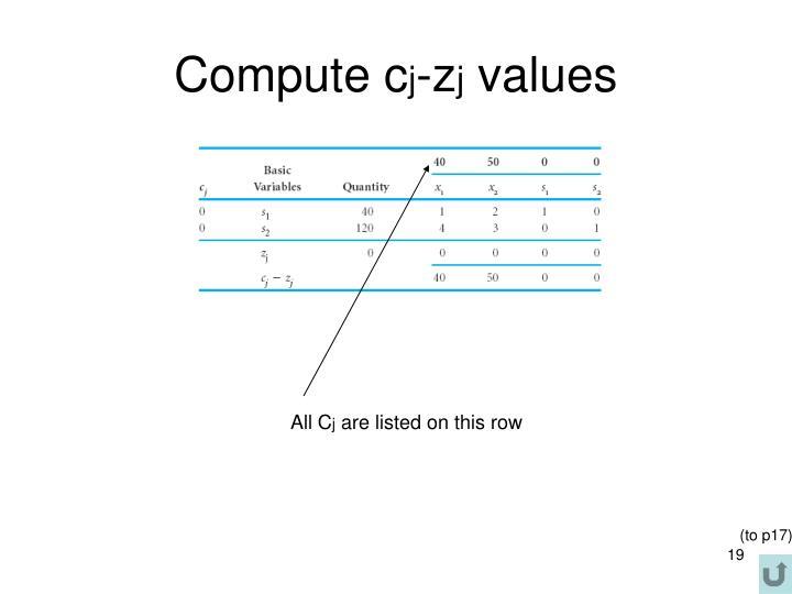 Compute c