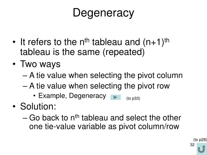 Degeneracy