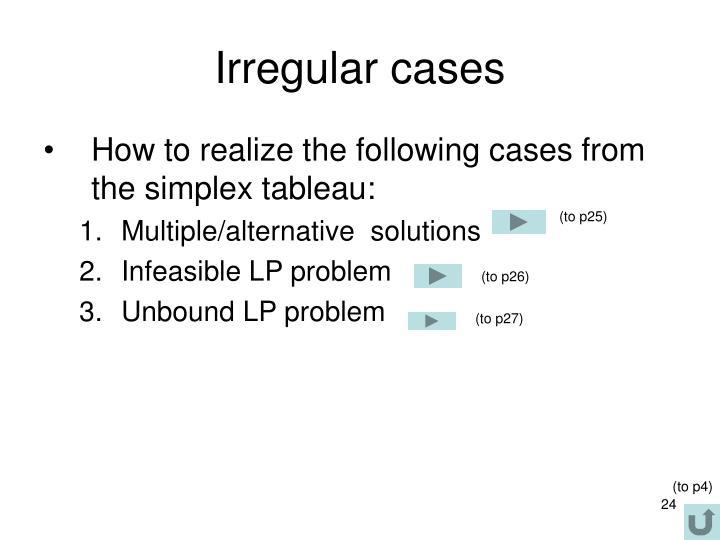 Irregular cases