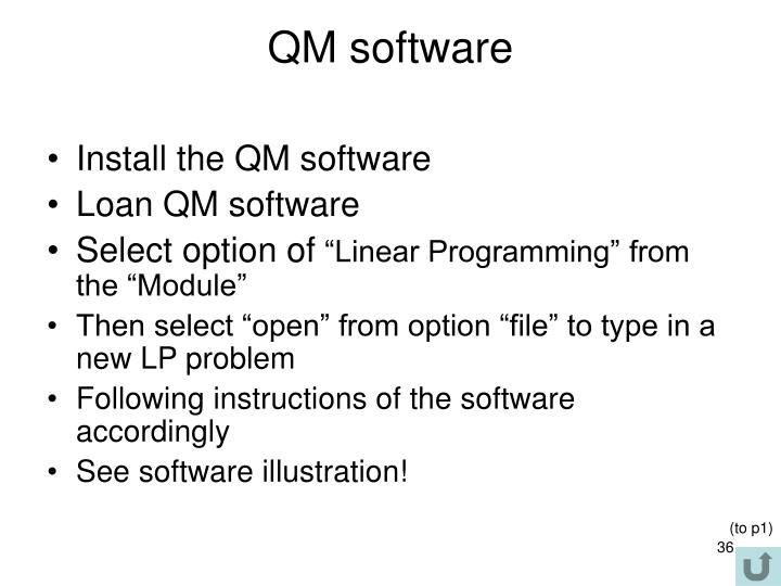 QM software