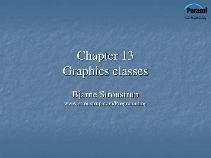chapter 13 graphics classes