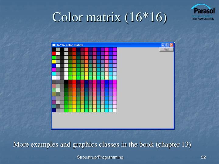 Color matrix (16*16)