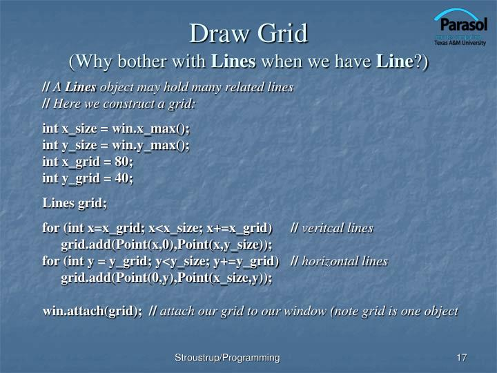 Draw Grid