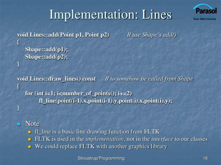 Implementation: Lines