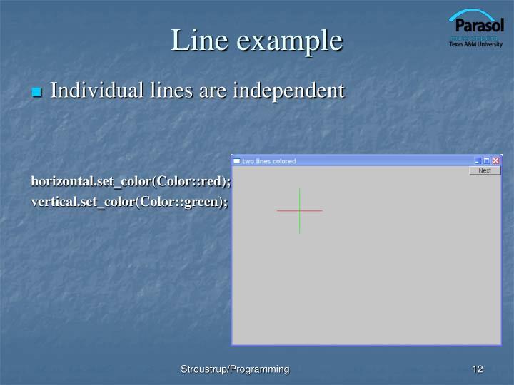 Line example