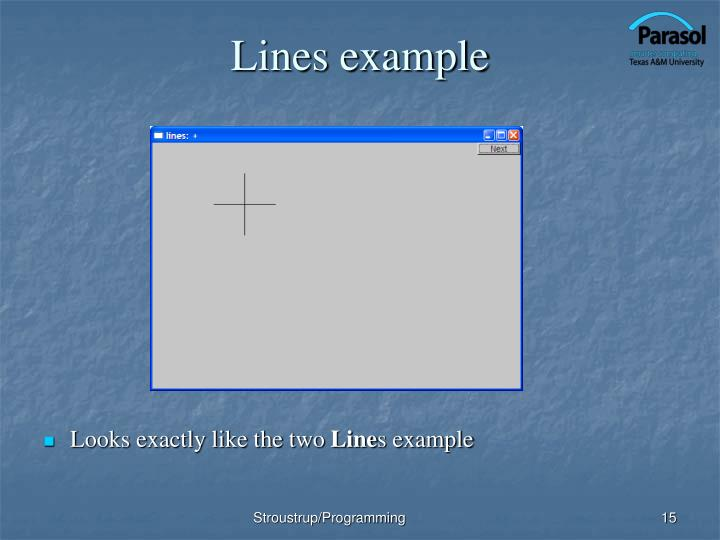 Lines example