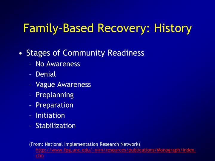 Family-Based Recovery: History