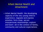 infant mental health and attachment