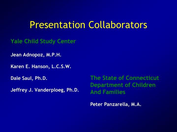 Presentation Collaborators