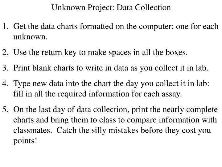 Unknown Project: Data Collection