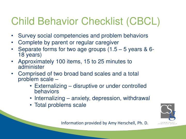 Child Behavior Checklist (CBCL)