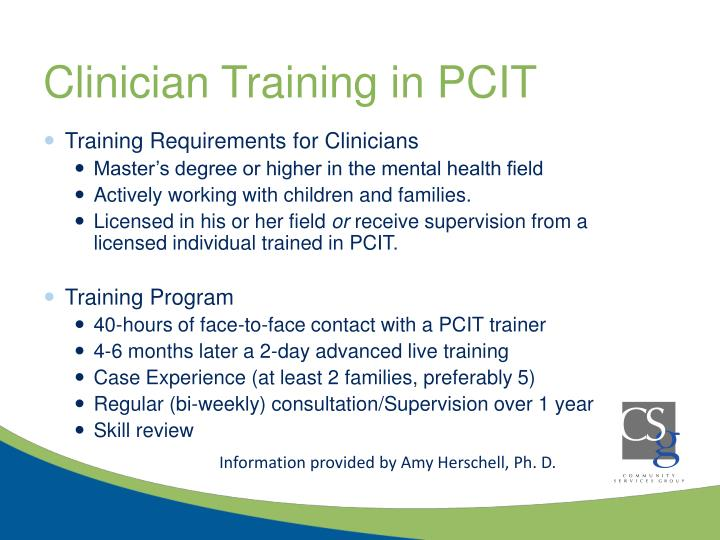 Clinician Training in PCIT