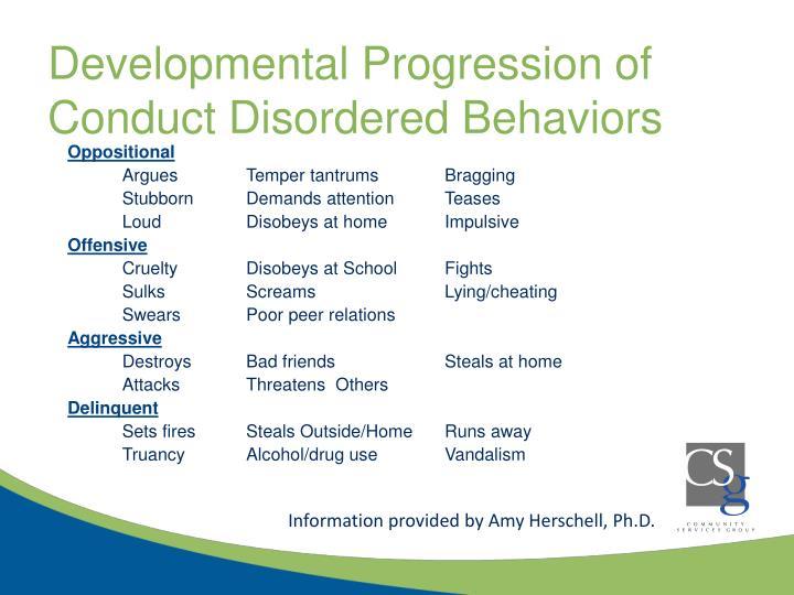 Developmental Progression of