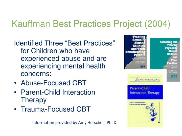 Kauffman Best Practices Project (2004)