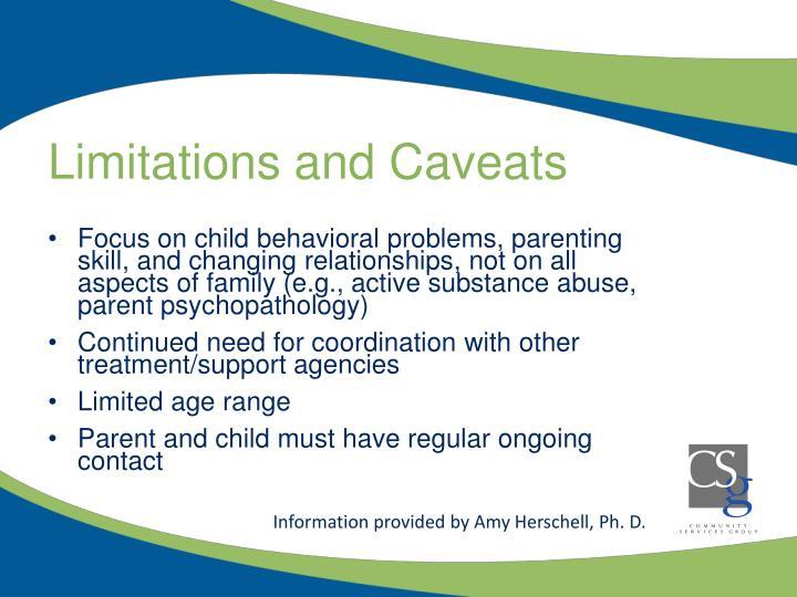 Limitations and Caveats