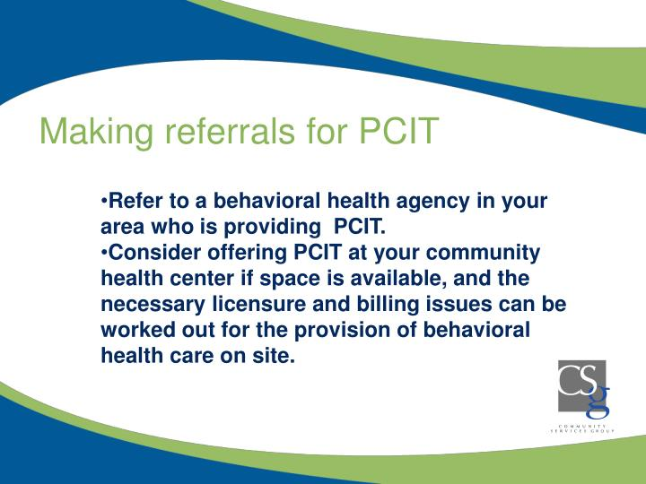 Making referrals for PCIT