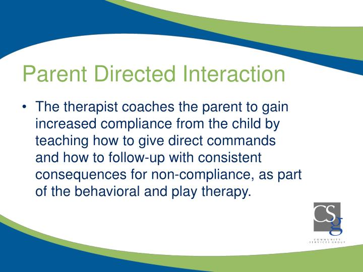 Parent Directed Interaction