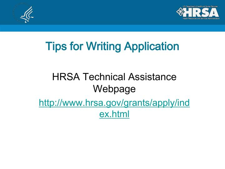 Tips for Writing Application