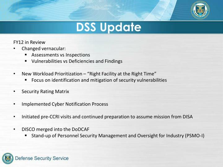 DSS Update