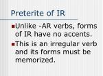 preterite of ir1