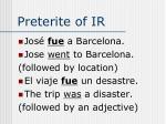 preterite of ir3