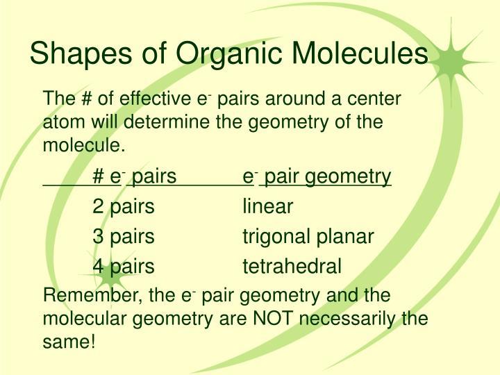 Shapes of Organic Molecules