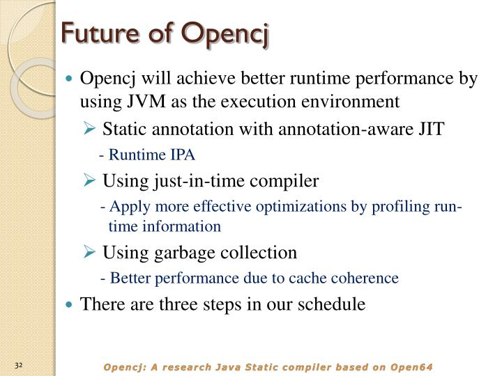Future of Opencj