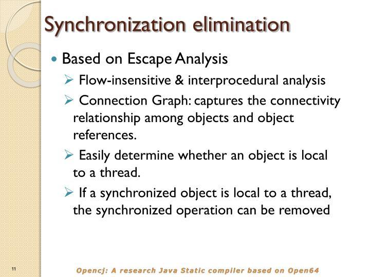 Synchronization elimination