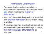 permanent deformation