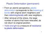 plastic deformation permanent