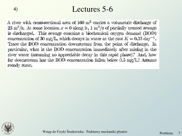 Lectures 5-6