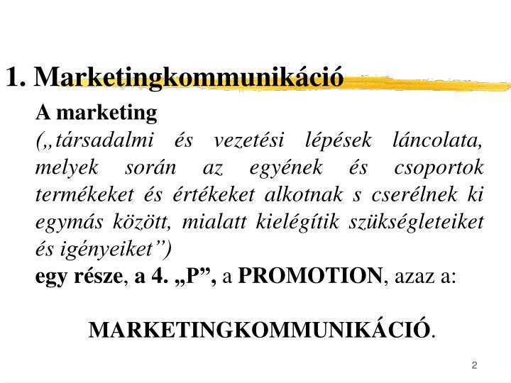 1. Marketingkommunikáció