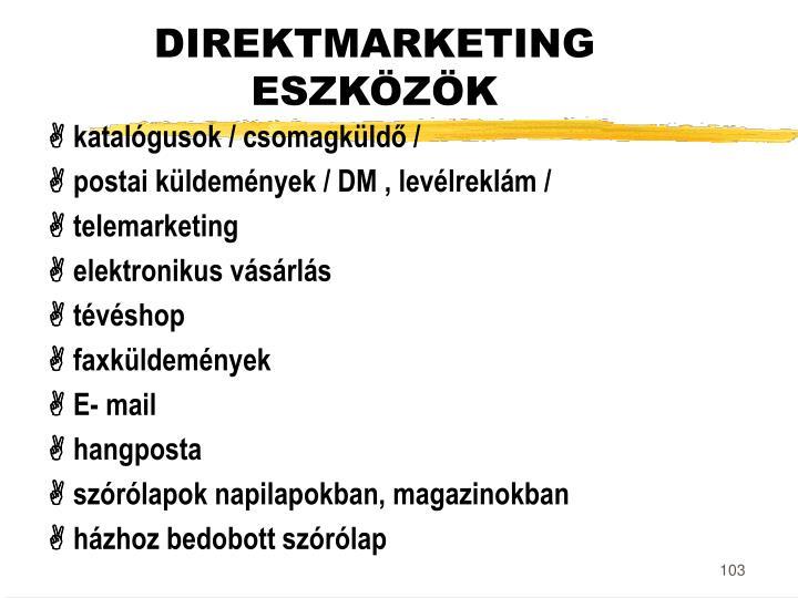 DIREKTMARKETING ESZKÖZÖK