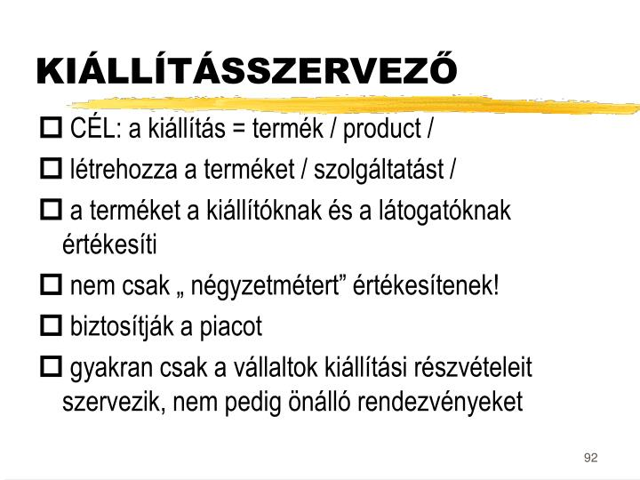 KIÁLLÍTÁSSZERVEZŐ