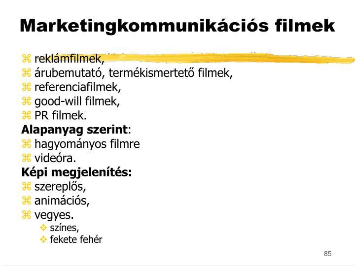 Marketingkommunikációs filmek
