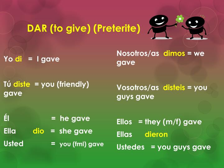 DAR (to give) (