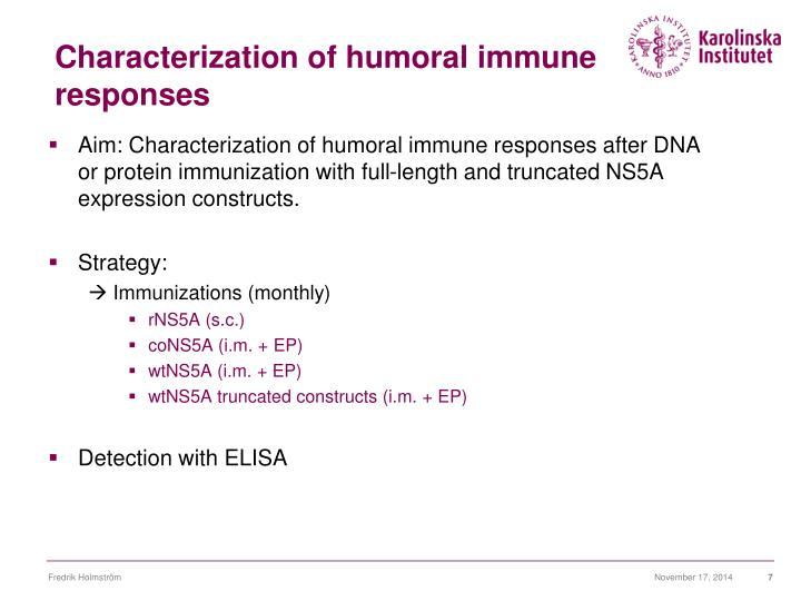 Characterization of humoral immune responses