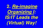 2 re ima g ine organizing i is it leads the virtual way
