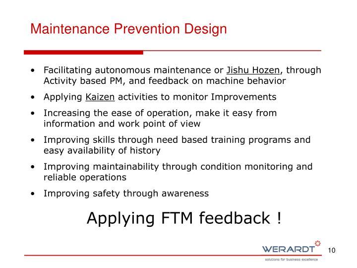 Maintenance Prevention Design