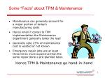 some facts about tpm maintenance