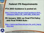 federal its requirements